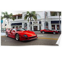 Ferrari Legends on Rodeo Drive Poster