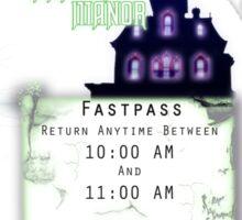 Phantom Manor- Fastpass Sticker