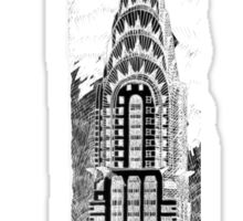 Chrysler Building Sketch Sticker