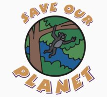save planet earth Kids Clothes