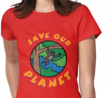 save planet earth Womens Fitted T-Shirt