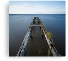 Old Pierr / Lough Neagh / Co Antrim / Northern Ireland Canvas Print