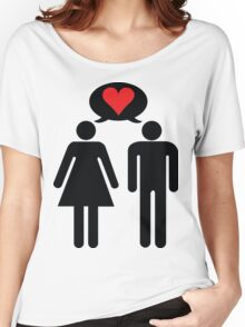 Conceptual love Women's Relaxed Fit T-Shirt