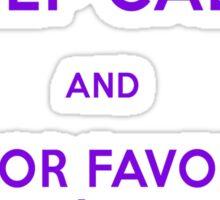 Monorail- Keep Calm (Purple) Sticker