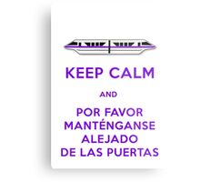 Monorail- Keep Calm (Purple) Metal Print