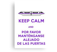 Monorail- Keep Calm (Purple) Canvas Print