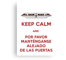 Monorail- Keep Calm (Red) Canvas Print