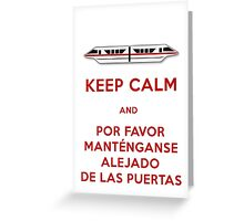 Monorail- Keep Calm (Red) Greeting Card