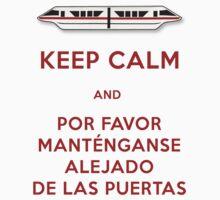 Monorail- Keep Calm (Red) Kids Clothes