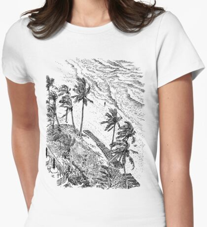 Fort Lauderdale, daytime Womens Fitted T-Shirt