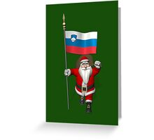Santa Claus Visiting Slovenia Greeting Card