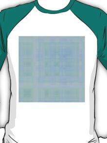 Cyan-Lilac-Blue Plaid T-Shirt