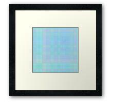 Cyan-Lilac-Blue Plaid Framed Print
