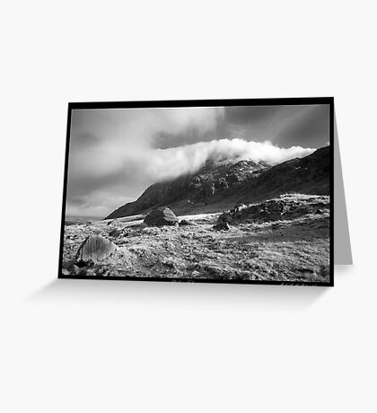 'Cloud over Tryfan' Greeting Card