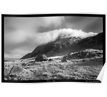 'Cloud over Tryfan' Poster