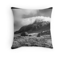 'Cloud over Tryfan' Throw Pillow