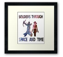 Soldiers through space and time Framed Print