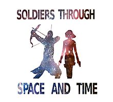 Soldiers through space and time Photographic Print