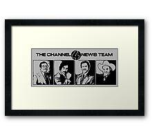 The Channel 4 News Team Framed Print