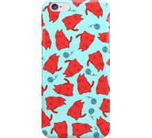 Red Cats and Balls of String iPhone Case/Skin