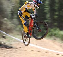 Downhill at Majura by Caldrift