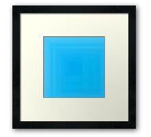 Tiffany Blue Plaid Framed Print