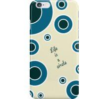 The Third Color - Circles (beige,blue,deep blue) iPhone Case/Skin