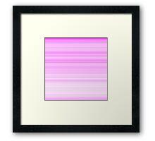 Pink-White Stripes Framed Print