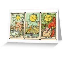 Sun/Moon/Star Tarot Greeting Card