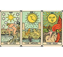 Sun/Moon/Star Tarot Photographic Print