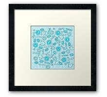 Hashtags, Retweets and Everything Else Twitter Framed Print