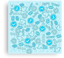 Hashtags, Retweets and Everything Else Twitter Canvas Print