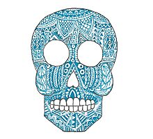 Blue Skull Photographic Print