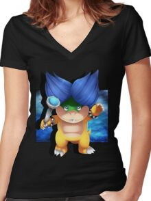 Ludwig Von Koopa Women's Fitted V-Neck T-Shirt