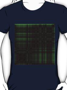 Gothic Green-Black Plaid T-Shirt
