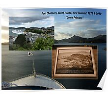 Port Chalmers Harbour 1873-2010 South Island, New Zealand Poster