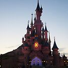 Disneyland Paris- Sunset by Margybear