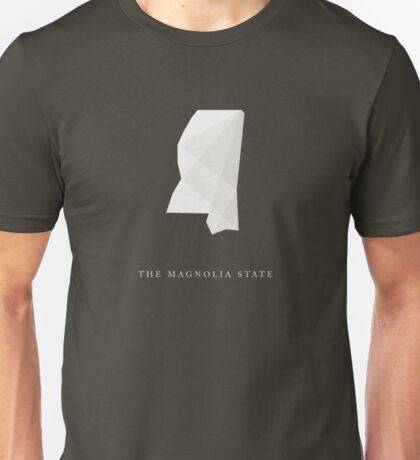 Mississippi, The Magnolia State Unisex T-Shirt