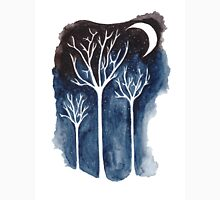 Moonlit Trees Womens Fitted T-Shirt