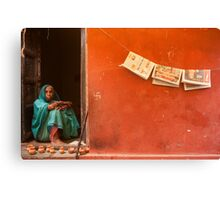 Home. Varanasi Canvas Print