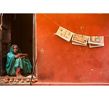 Home. Varanasi Photographic Print