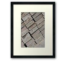 Small Gray Bricks Framed Print