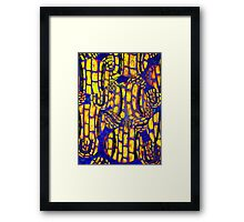 Wild colorful abstract Tennis Ball artwork Framed Print