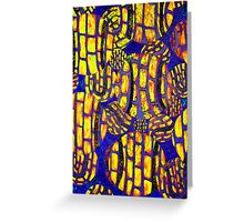 Wild colorful abstract Tennis Ball artwork Greeting Card