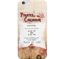 Pirates of the Caribbean- Fastpass iPhone Case/Skin