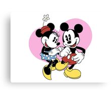 minnie and mickey mouse Canvas Print