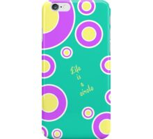 The Third Color - Circles (green,purple,yellow) iPhone Case/Skin