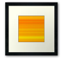 Summer Orange-Yellow Stripes Framed Print