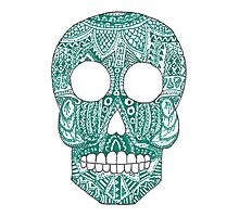 Green skull Photographic Print