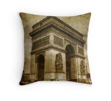 Paris - The Triumph Arch Throw Pillow